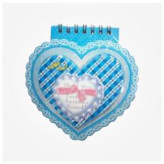 دفترچه یادداشت کودکانه طرح قلب Heart Design Notebook children